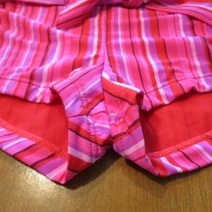 SINCE Swim - SINCE PINK STRIPED SHORTY SHORTS SMALL